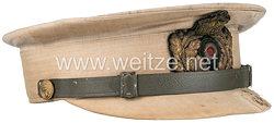Kaiserliche Marine Tropen-Schirmmütze für Offiziere