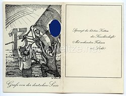 """III. Reich - Propaganda-Postkarte - """" Gruß von der deutschen Saar - Sprengt die letzten Ketten der Knechtschaft ! Mit wehenden Fahnen ins Licht ! 1935 """""""