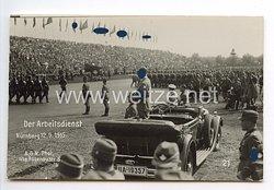 """III. Reich - Propaganda-Postkarte - """" Reichsparteitag in Nürnberg - Der Arbeitsdienst Nürnberg 12.9.1935 """""""