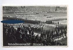 """III. Reich - Propaganda-Postkarte - """" Deutsche Kampfspiele 1934 Nürnberg """""""