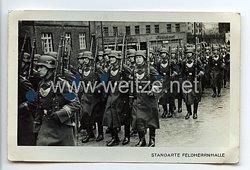 "SA - Propaganda-Postkarte - "" SA-Standarte Feldherrnhalle - Ringkragenträger im Marsch """