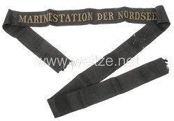 """Reichsmarine Mützenband """"Marinestation der Nordsee"""""""