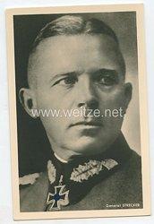 Heer - Portraitpostkarte von Ritterkreuzträger General Strecker