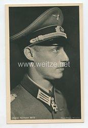 Heer - Portraitpostkarte von Ritterkreuzträger Oberst Hermann Seitz
