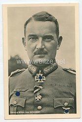 Heer - Portraitpostkarte von Ritterkreuzträger General Ritter von Schobert