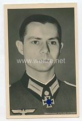 Heer - Portraitpostkarte von Ritterkreuzträger Oberleutnant Kylling-Schmidt
