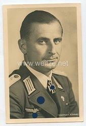 Heer - Portraitpostkarte von Ritterkreuzträger Hauptmann Kümmel