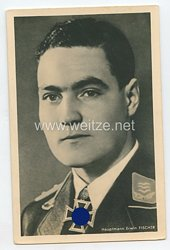 Heer - Portraitpostkarte von Ritterkreuzträger Hauptmann Erwin Fischer