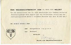 Luftwaffe - Kampfgeschwader K.G.26 - Schmuckurkunde für einen Obergefreiten und Bordwart