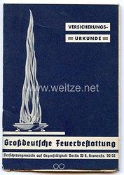 III. Reich - Großdeutsche Feuerbestattung - Versicherungsverein auf Gegenseitigkeit - Mitgliedsausweis
