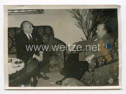 III. Reich Pressefoto. Rumäniens Handelsminister bei Reichswirtschaftsminister Funk. 11.11.41.