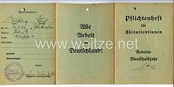Reichsstudentenführung - Pflichtenheft für Abiturientinnen ( Alle Arbeit für Deutschland ! )