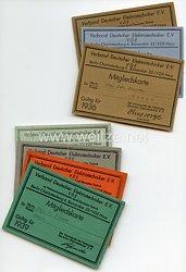 III. Reich - Verband Deutscher Elektrotechniker e.V. - 7 Mitgliedskarten für einen Ingenieur aus Essen