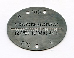 """Wehrmacht Heer Erkennungsmarke """"1.Kp.FST.PI Stab.31"""""""