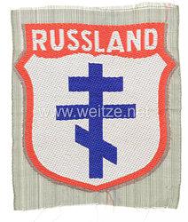 """Wehrmacht Heer Ärmelschild für der Befreiungsarmee POA, 2. Model mit Aufschrift """"Russland"""""""