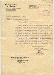 Nationalsozialistischer Arbeitsdienst ( NSAD ) Arbeitsgauleitung Ostpreußen - Schreiben an einen Truppführer
