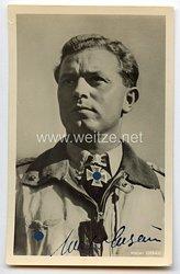 Luftwaffe - Originalunterschrift von Ritterkreuzträger Major Walter Oesau