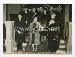 III. Reich Pressefoto. Rumäniens neuer Gesandter in Berlin eingetroffen. 14.03.1941.