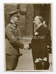 III. Reich Pressefoto. Kranz Niederlegung des Jugoslawischen Außenministers Cincar-Markowic am Ehrenmal. 26.04.1939.