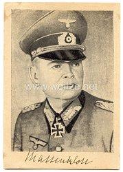 Heer - Originalunterschrift von Ritterkreuzträger General der Infanterie Franz Mattenklott
