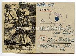 Heer - Originalunterschrift und -widmung von Ritterkreuzträger Major Alfons Kleinmann