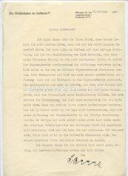 Luftwaffe - Originalunterschrift des Ritterkreuzträgers General der Flieger Hugo Sperrle auf einem Schreiben