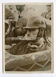 III. Reich Pressefoto. Rekordversuche Major Gardners auf der Reichsautobahn. 3.11.1938.