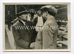 III. Reich Pressefoto. Werner Krauss bei dem Salzburger Festspielen. 27.07.1938.
