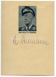 Luftwaffe - Originalunterschrift von Ritterkreuzträger Oberstabsarzt Dr.med. Heinrich Neumann