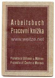 III. Reich - Protektorat Böhmen und Mähren - Arbeitsbuch für einen Jungen des Jahrgangs 1929