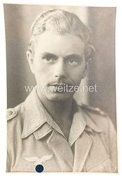 Luftwaffe Portraitfoto, Soldat in Tropenuniform
