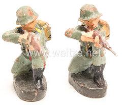 Elastolin - Heer 2 Soldaten kniend schießend