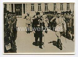 III. Reich Pressefoto. Irans Kronprinz zur Hochzeit in Kairo eingetroffen.