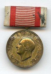 Königreich Yugoslavien Goldene Medaille für Verdienste um das Königshaus Alexander I. Karageorgevich (1927-1934)