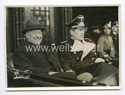III. Reich Pressefoto. Ankunft des ehemaligen ungarischen Ministerpräsident von Daranyi zum Geburtstag des Führers. 19.04.1939.