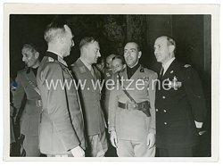 III.Reich Pressefoto, Empfang für den Generalstabschef der Faschistischen Miliz General Galbiati 11.9.1942