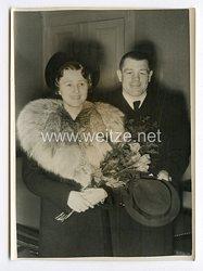 III. Reich Pressefoto. Europaminister im Boxen Adolf Heuser hat geheiratet. 23.3.1939.