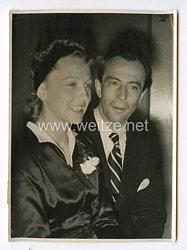 III. Reich Pressefoto. Eiskunstläuferpaar und nun Ehepaar. 28.10.1940.