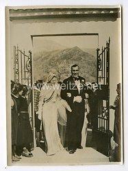 III. Reich Pressefoto. Der berühmte ehemalige Boxer Primo Carnera hat Pina Cavazzini geheiratet. 15.3.1939.