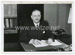 III.Reich Pressefoto, der neue Präsident des statistischen Reichsamtes 14.1.1941