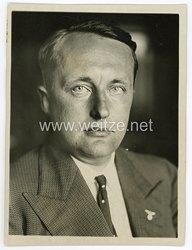 III.Reich Pressefoto, der neue Präsident des Hansahundes für Gewehre, Handel und Industrie 5.7.