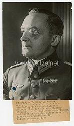 III.Reich Pressefoto, Leiter der Reichsstelle für Wirtschaftsministerium Major Dr. Czimatis 9.2.1938