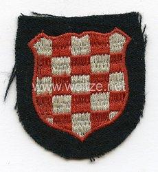 Ärmelschild der Kroatischen Freiwilligen der Waffen-SS Division Handschar