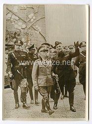 III. Reich Pressefoto. Viktor Emanuel III. auf der Mailänder Mustermesse. April 1939.