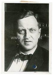 III.Reich Pressefoto, Staatsrat Engell Ministerpräsident von Mecklenburg-Schwerin 11.8.1933