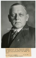 III.Reich Pressefoto, Staatsminister Fritz Wächtler wurde zum Hauptamtsleiter des NSLB ernannt 8.12.1935