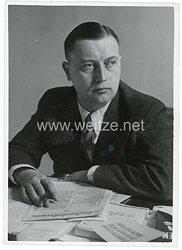 III.Reich Pressefoto, Stabsleiter des Reichspressechefs der NSDAP Reichsamtsleiter Helmut Sündermann 10.12.1938