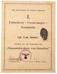 Luftwaffe Abzeichen der 5.Fallschirm-Panzerjaeger-Kompanie