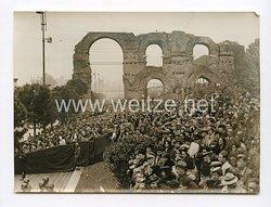 III. Reich Pressefoto. 200 000 Menschen sahen die gewaltige Truppenparade vor dem Führer. 6.5.1938.
