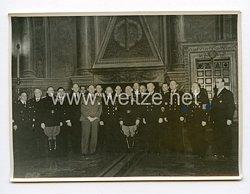 III. Reich Pressefoto. Reichsarbeitsminister Seldte beim Duce in Rom. 19.11.1940.